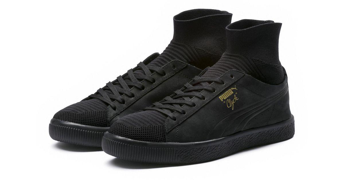 293e133c0af682 Lyst - PUMA Clyde Sock Men s Sneakers in Black for Men