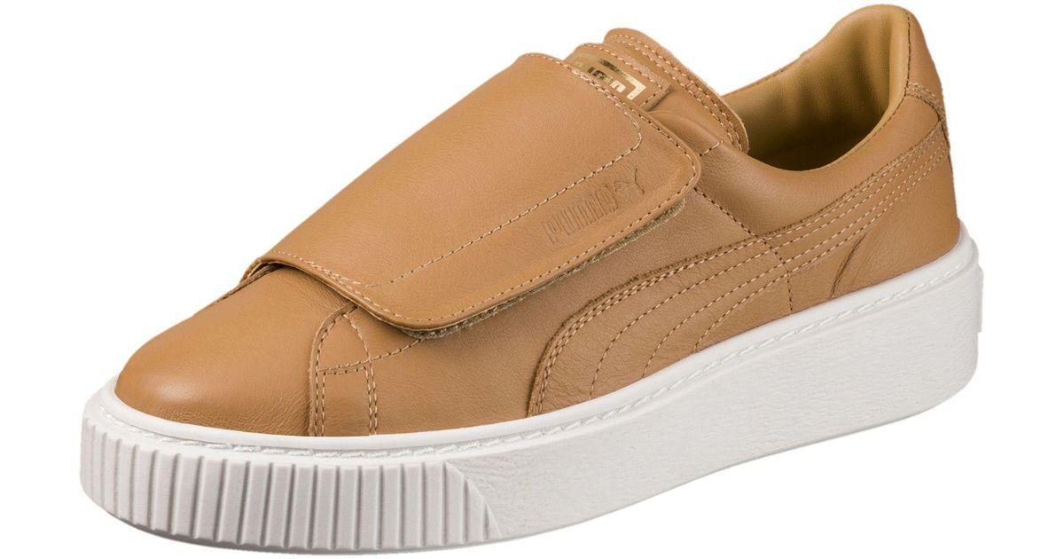 5620894c932c Lyst - PUMA Basket Platform Big Strap Women s Sneakers