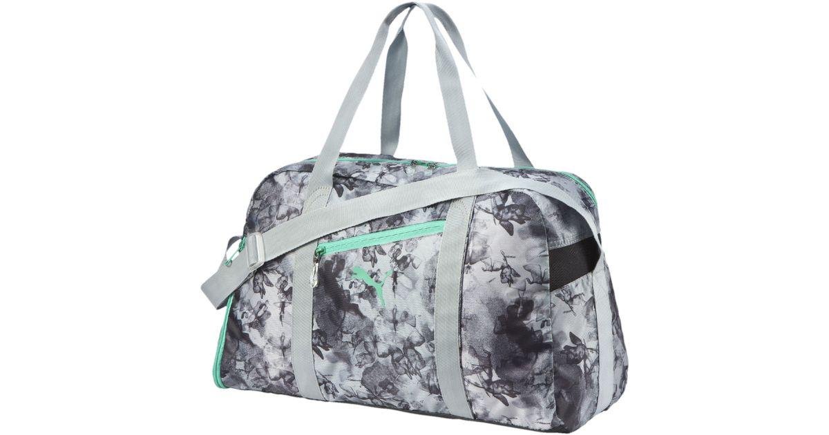 Lyst - PUMA Fit At Sports Duffel Bag in Gray b43383f63a543