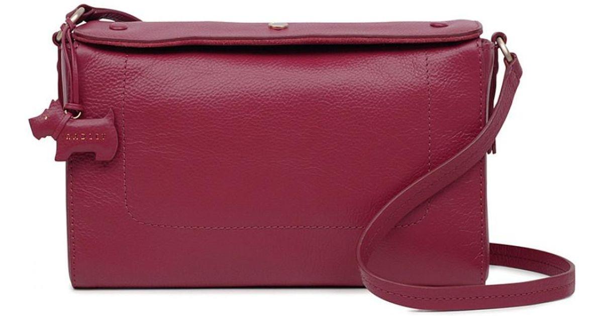 Radley Belmont House Medium Flapover Cross Body Bag in Red - Lyst 6ef30b4427
