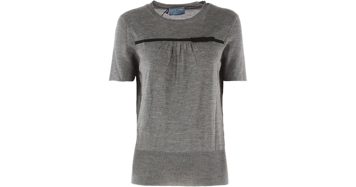 c0fa6db21391 Prada Clothing For Women in Gray - Lyst