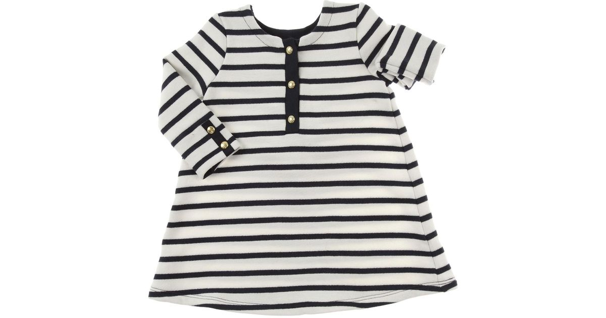 269afd960cb17 Petit Bateau Baby Dress For Girls On Sale in White - Lyst