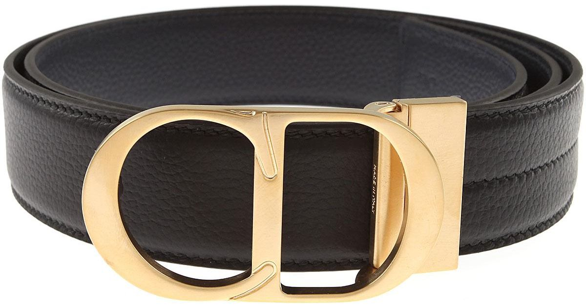 eb635809d3 Dior Mens Belts On Sale in Black for Men - Lyst