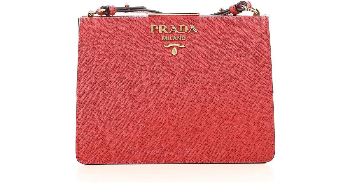ed1c67bfa144 ... usa lyst prada handbags in red 2cf0e 99cec