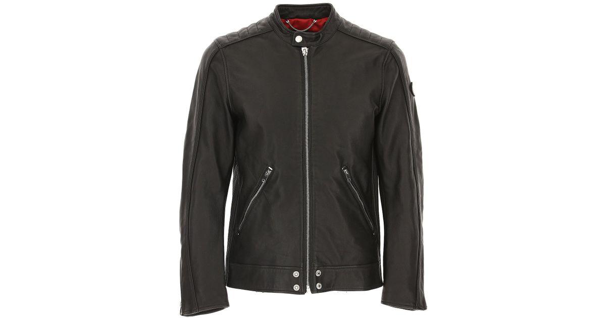 926c7a5ecc27 ... blousons noir vêtements homme,veste diesel cuir,france Diesel ...