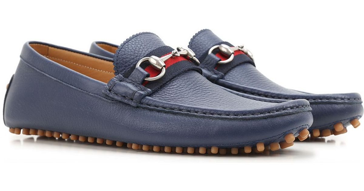 01e06e2b6 Lyst - Gucci Shoes For Men in Blue for Men