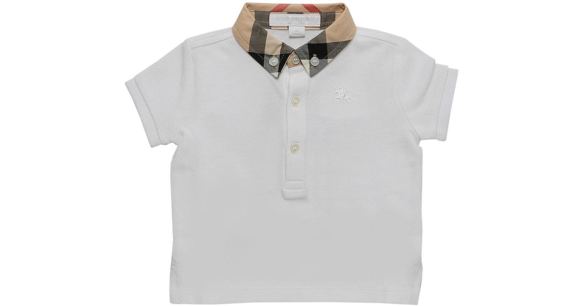 15f7b3d0 Lyst - Burberry Baby Polo Shirt For Boys in White for Men