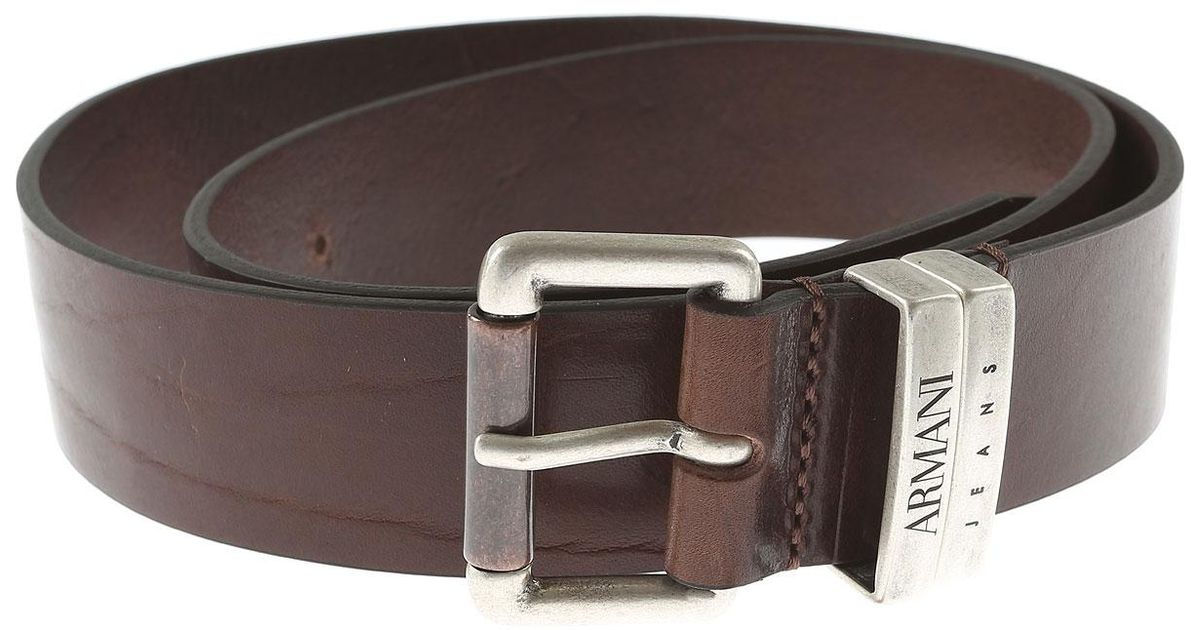 364319dc0d Armani Jeans Mens Belts On Sale in Brown for Men - Lyst