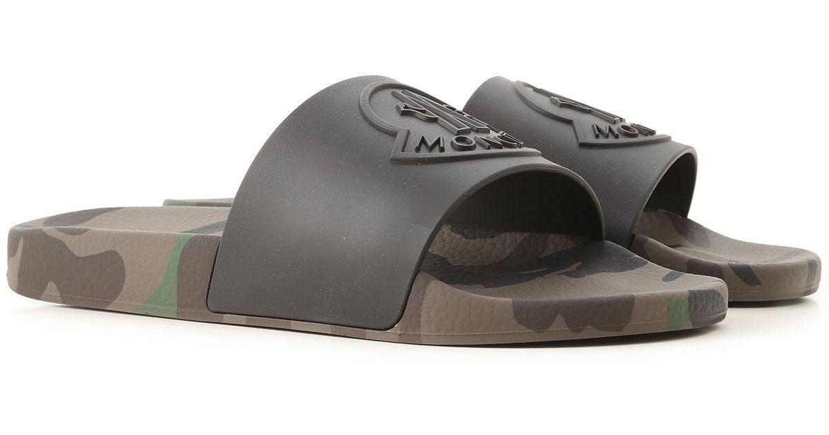 fca9c082fa2e Lyst - Moncler Flip Flops For Men in Black for Men