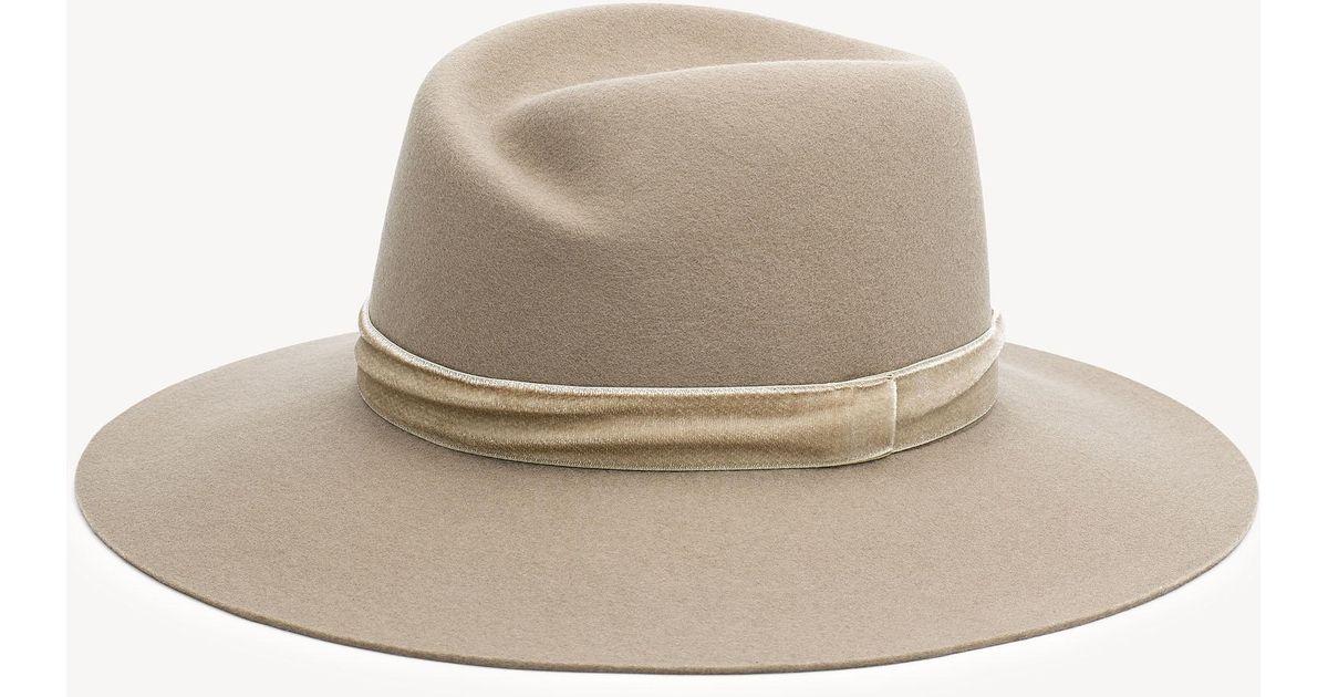 b1dcbdef7c5 Rag   Bone Zoe Wool Fedora Hat - Save 1.0810810810810807% - Lyst