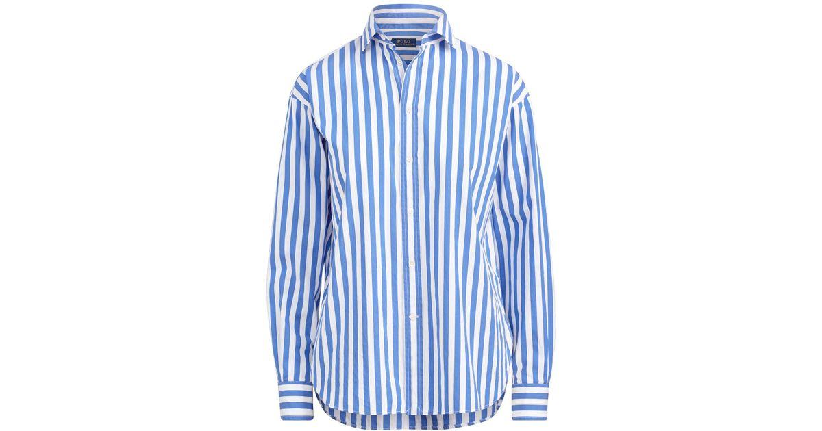 7c3f2149 Polo Ralph Lauren Bengal-stripe Cotton Shirt in Blue - Lyst