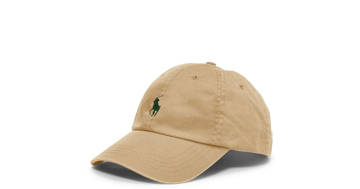 Lyst - Polo Ralph Lauren Cotton Twill Sports Cap in Natural for Men 02303d329e4