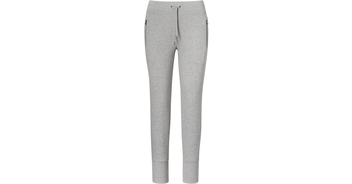 polo ralph lauren jogginghose aus fleece in gray lyst. Black Bedroom Furniture Sets. Home Design Ideas