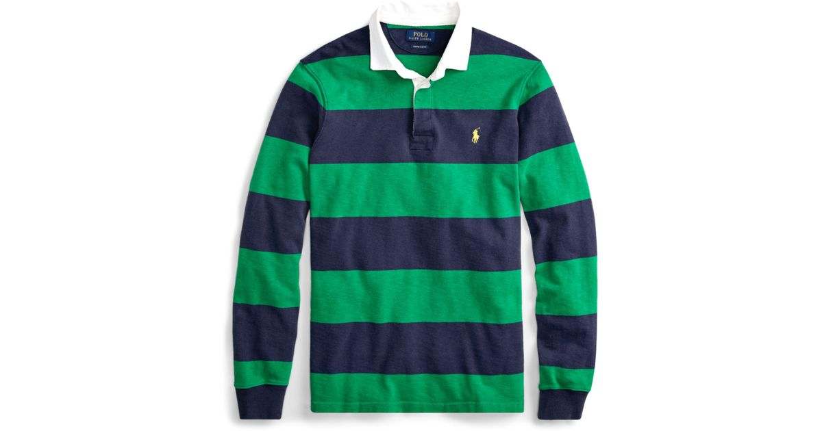 0865a978a07d ... sale lyst polo ralph lauren the iconic rugby shirt in green for men  dfe1b 330e8