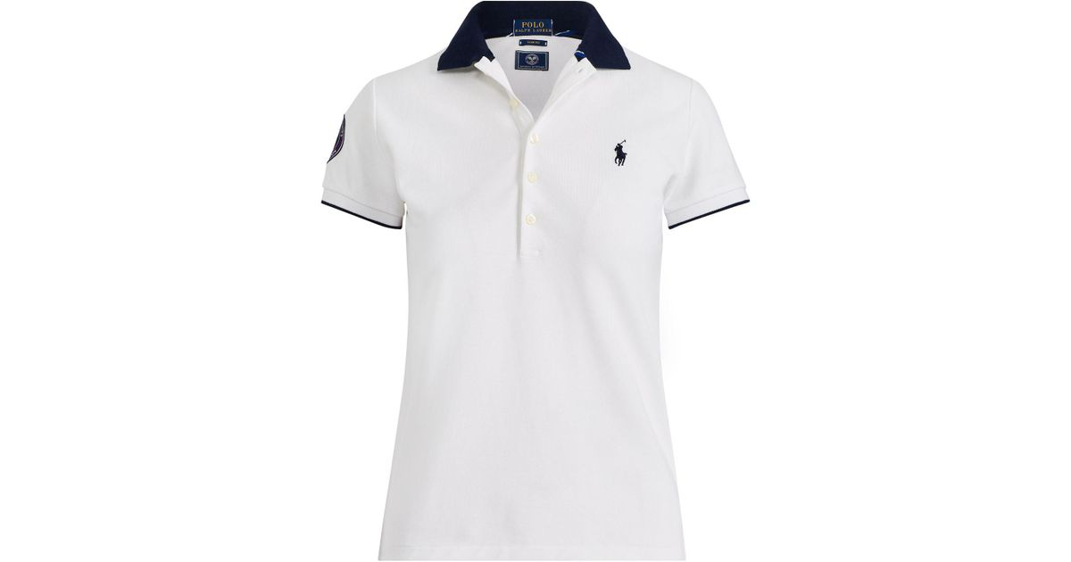 f1cd0b0b09 Polo Ralph Lauren - White Wimbledon Slim Fit Polo Shirt - Lyst