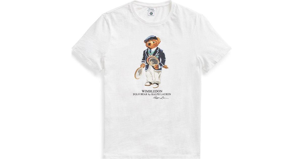 30ccc50a4 Polo Ralph Lauren Wimbledon Custom Slim T-shirt in White for Men - Lyst