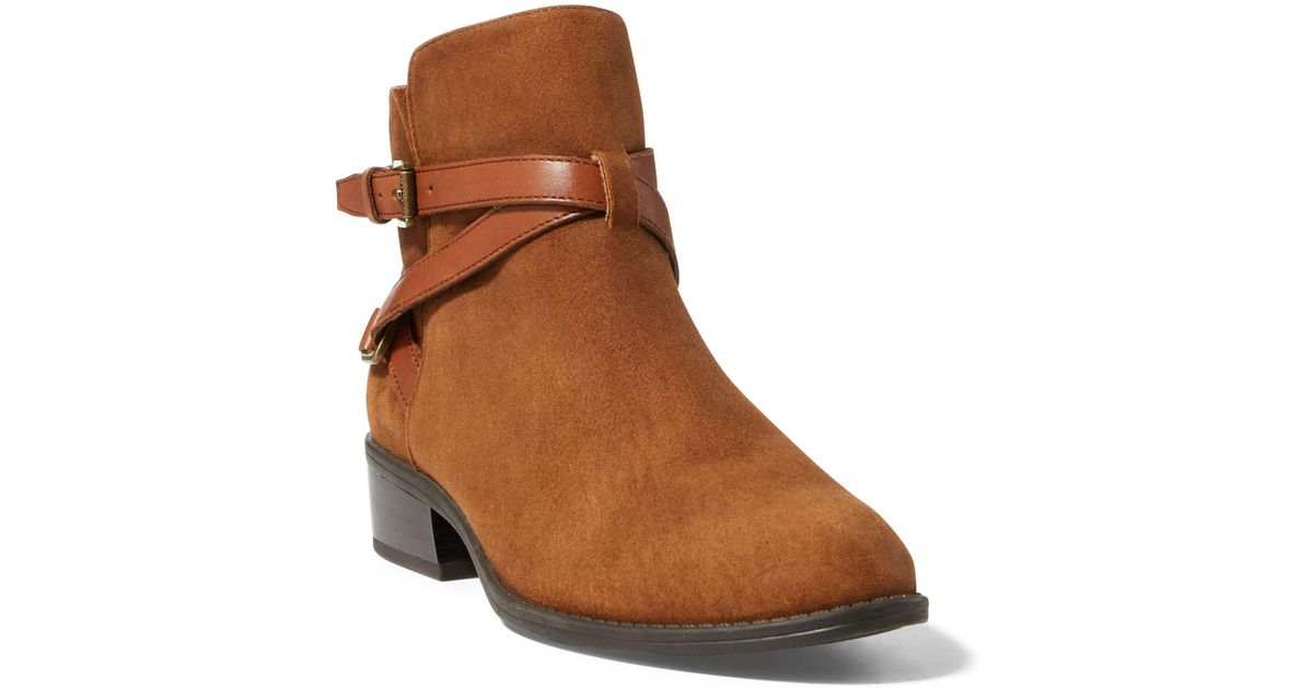 Lauren Ralph LaurenSIGNATURE HAANA - Ankle boots - deep saddle tan afQ1JU