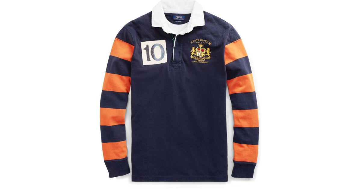 5dc79818 Polo Ralph Lauren Classic Fit Cotton Rugby Shirt in Blue for Men - Lyst