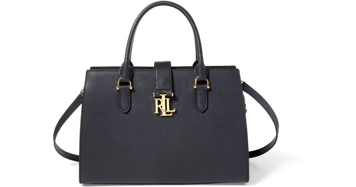 14e0c67ec7 Lyst - Ralph Lauren Leather Brigitte Ii Satchel in Black