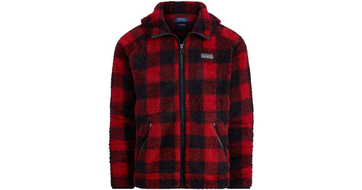 783a43757 ... czech lyst polo ralph lauren buffalo plaid fleece hoodie in red for men  15512 93236