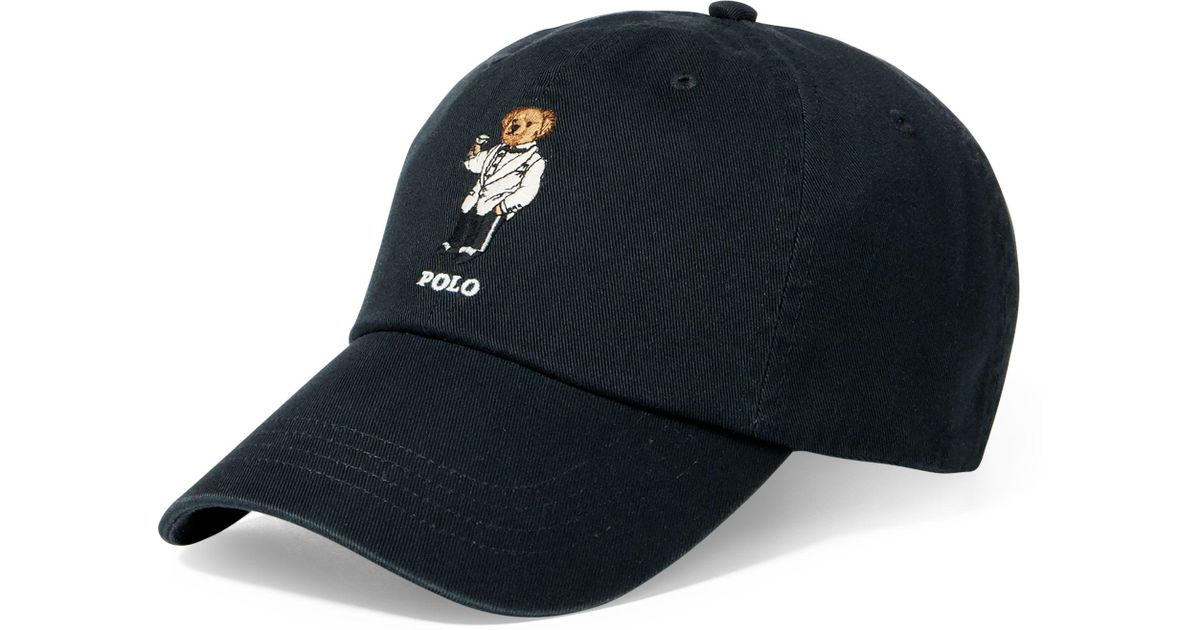 43942ffc Polo Ralph Lauren Martini Polo Bear Chino Cap in Blue for Men - Lyst