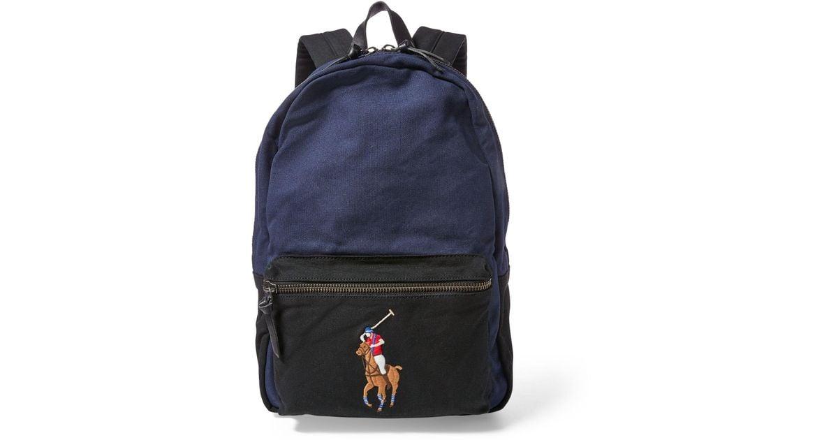 Polo Ralph Lauren Canvas Big Pony Backpack for Men - Lyst bb8077c9d0028