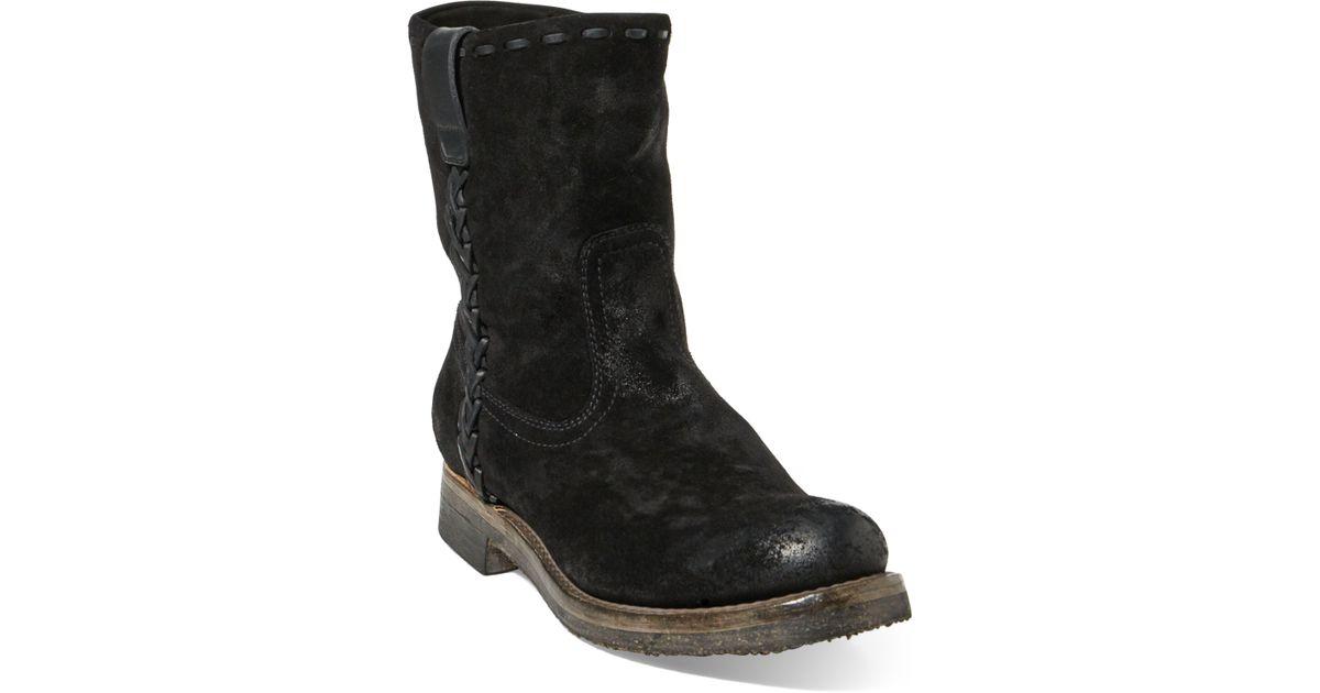 1ca12b766ea Ralph Lauren - Black Jerrod Oiled Suede Roper Boot for Men - Lyst