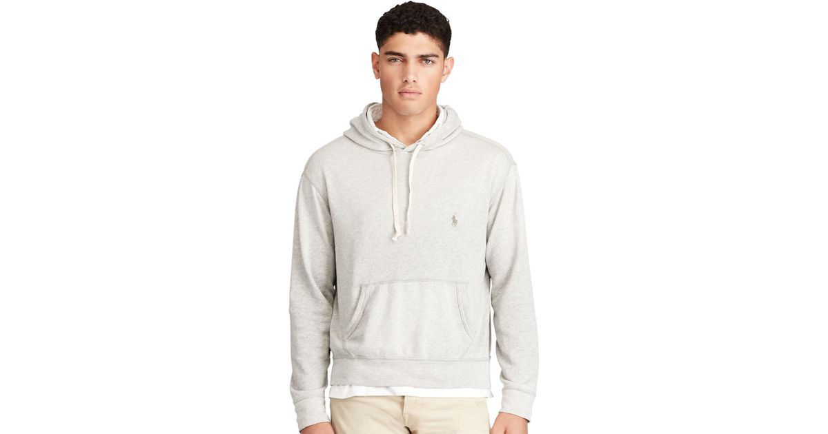 bc3daa2f8 Polo Ralph Lauren Cotton Spa Terry Hoodie in Gray for Men - Lyst