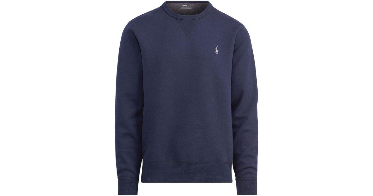 583c382d8 Polo Ralph Lauren Double-knit Sweatshirt in Blue for Men - Save 30% - Lyst