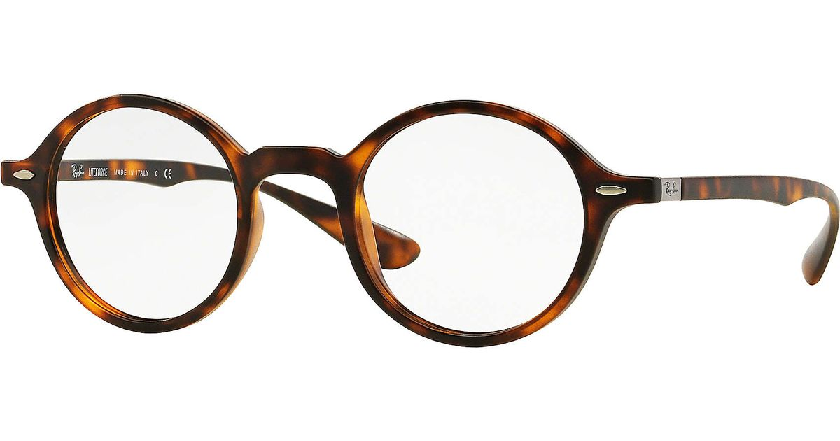 403c801251e Lyst - Ray-Ban Round Liteforce Optics in Brown