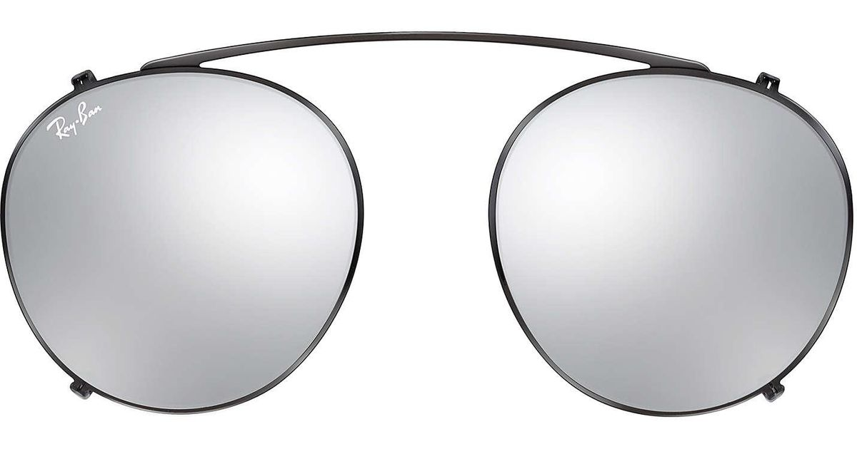 7e8a2cf642 Ray-Ban Round Fleck Clip-on in Metallic for Men - Lyst
