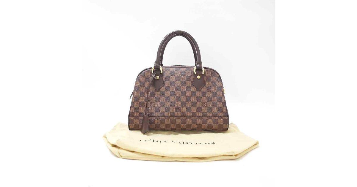 3b8cf11475 Lyst - Louis Vuitton N 60008 Damier Duomo Handbag Tea in Brown