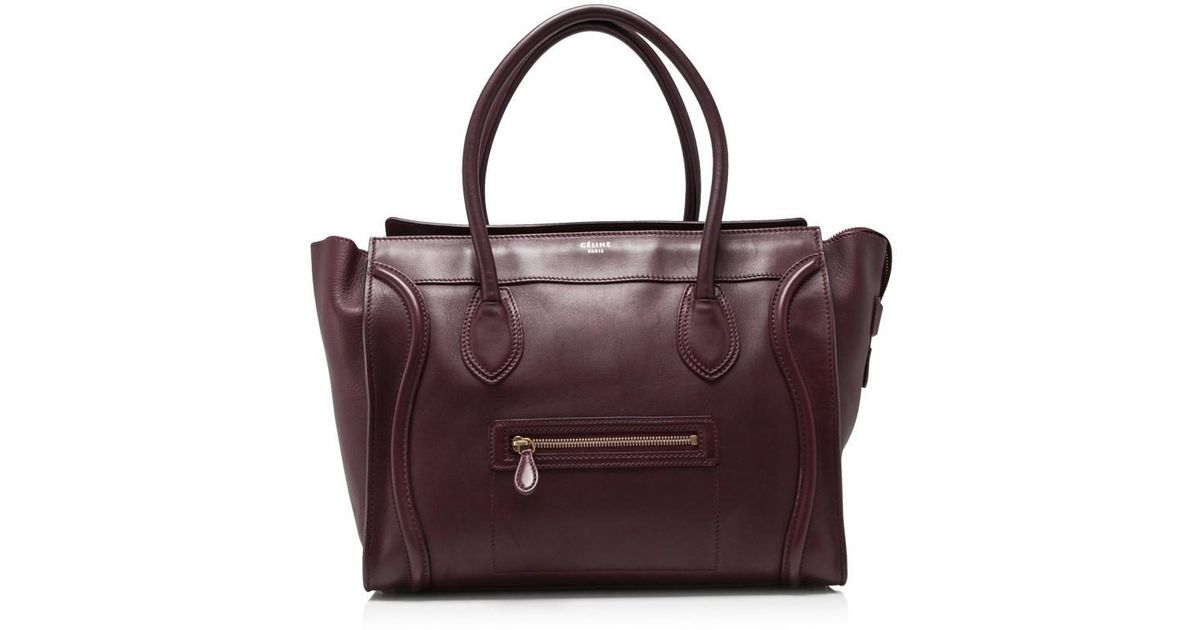 Lyst - Céline Pre-owned Céline Shoulder Luggage Tote in Purple d60c507b230ff