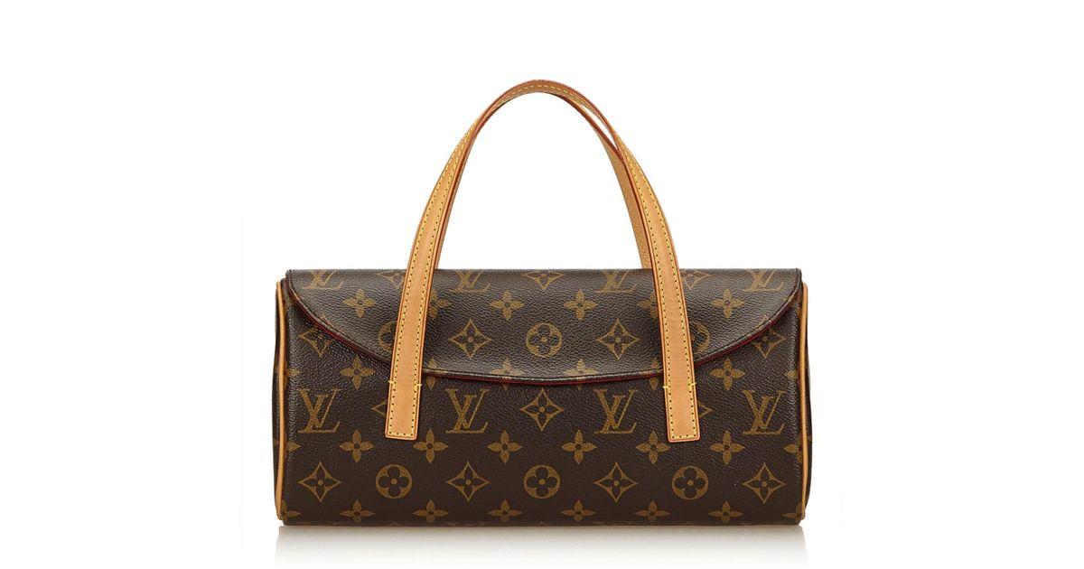 f626d13386c4 Lyst - Louis Vuitton Sonatine Monogram Handbag - Vintage in Brown