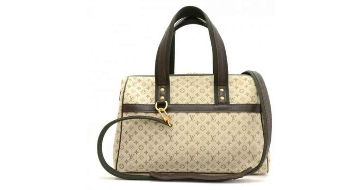Louis Vuitton Josephine Gm Khaki Mini Monogram Canvas Hand Bag + Strap p25PtPk