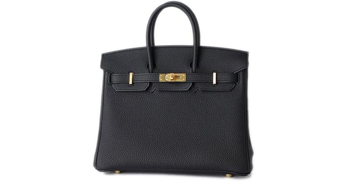 8f23b9cb60c6 Lyst - Hermès Birkin 25 Togo Black Gold Hardware C Mark in Black