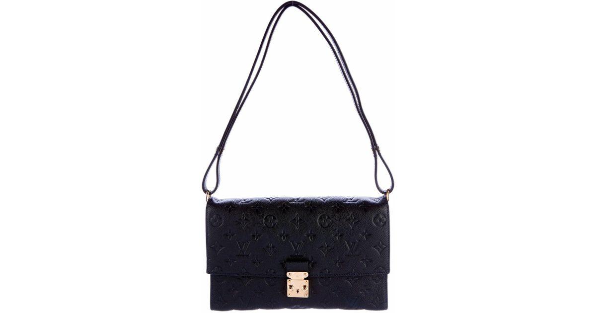 9c613af5064b Lyst - Louis Vuitton Monogram Empreinte Fascinante Shoulder Bag Blue Dark    Brand New in Blue