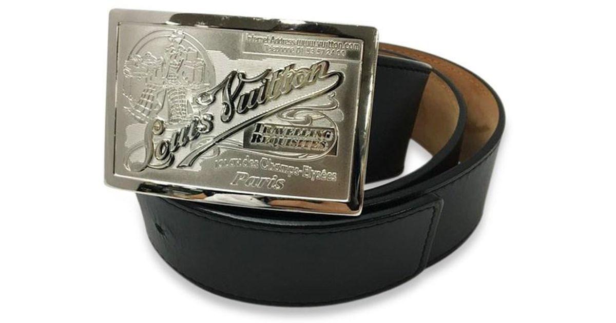b65f4b7afeac Lyst - Louis Vuitton Saint-jules Jeans Belt Men s Black in Black for Men