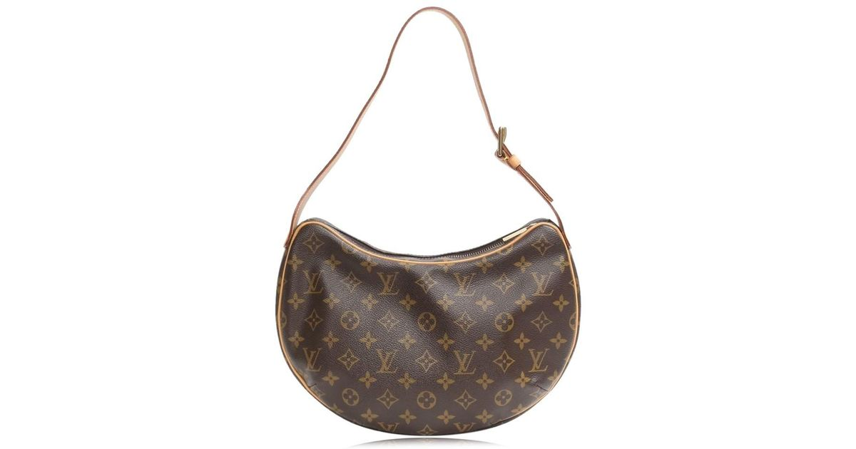 598295763798 Lyst - Louis Vuitton Authentic Croissant Mm Shoulder Bag M51512 Monogram  Canvas Used in Brown