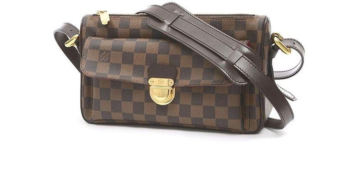 11eb500ad01b Lyst - Louis Vuitton Damier Ravello Gm Shoulder Bag Long Strap N 60006 in  Brown