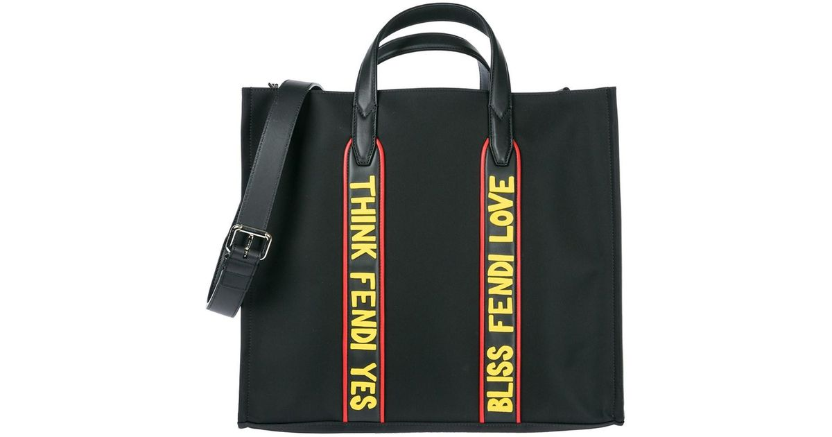 8b59c01963 ... netherlands lyst fendi mens bag handbag shopping tote nuovo originale in  black 41c5e e588c