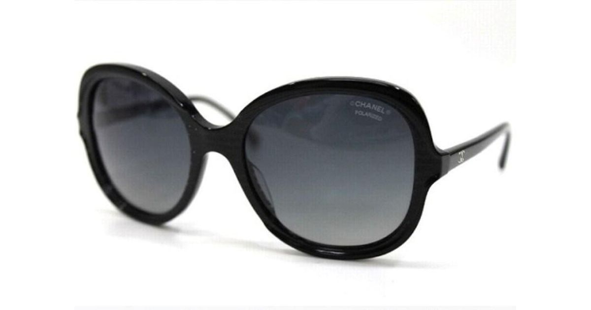 a8907055490 Lyst - Chanel Authentic Square Shaped Cc Sunglasses Shades Black 5320-a in  Black