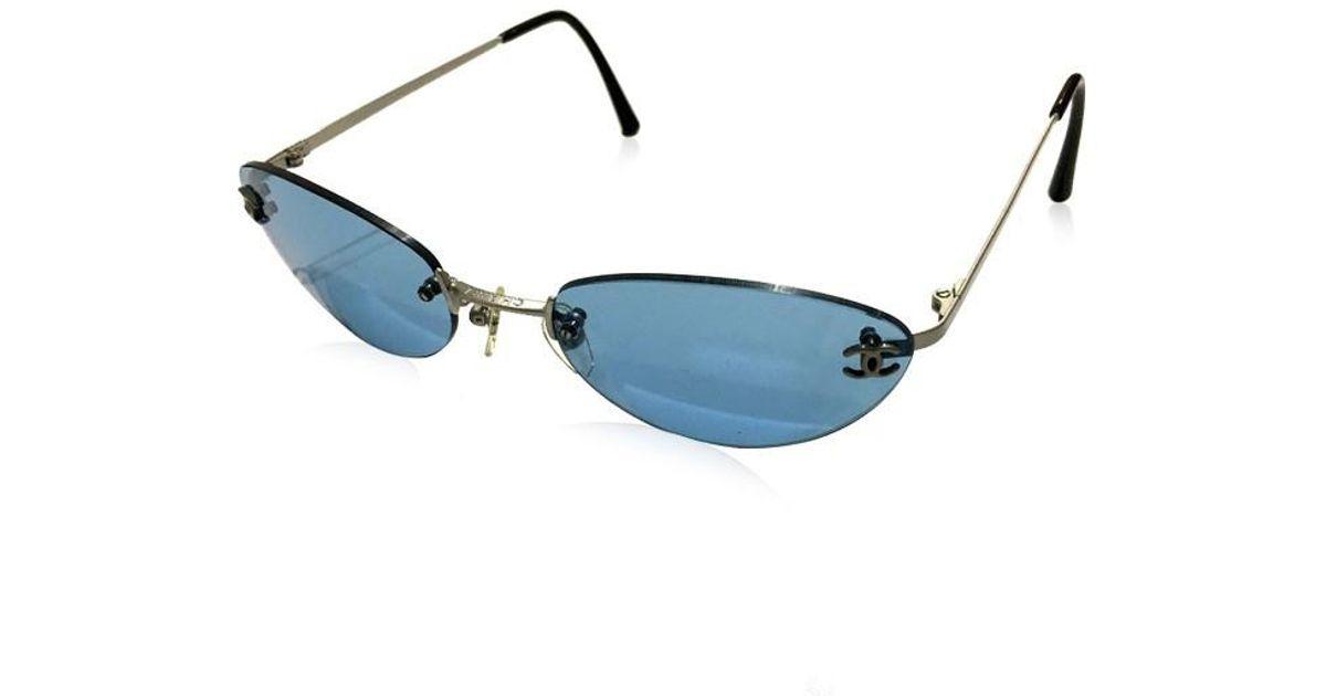 b4bf2b1522 Chanel - Men's Women's Cc Cc Mark Sunglasses Blue 4003 - Lyst