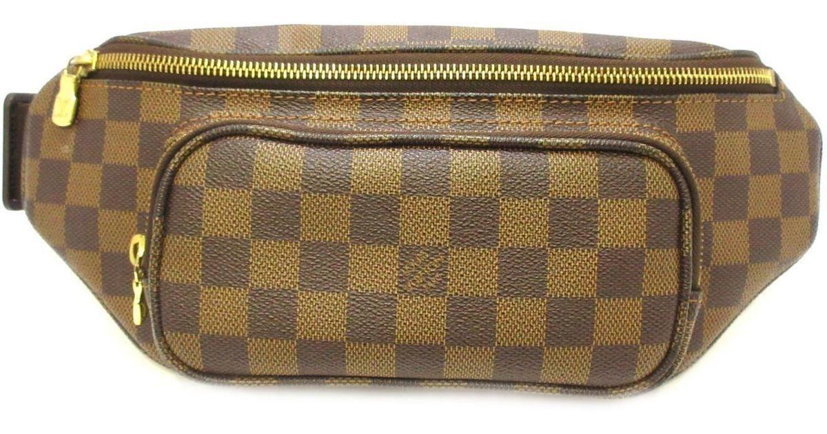 334faa03e795 Lyst - Louis Vuitton Damier Bum Bag Melville Ebene Waist Pouch N51172 in  Brown for Men