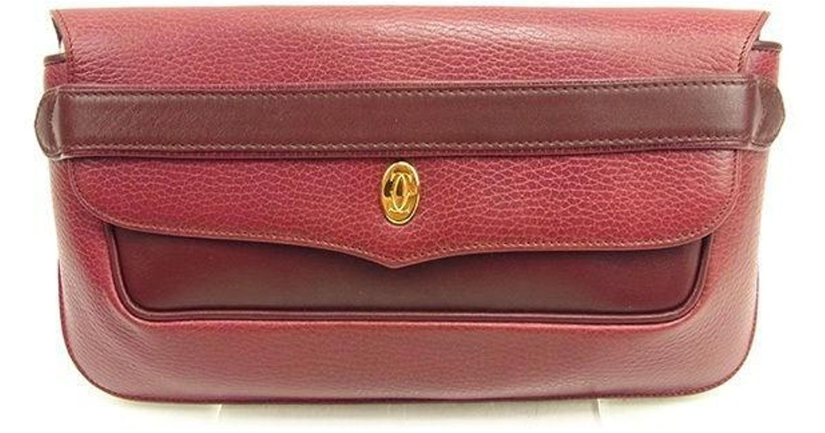 f7e91b3e01 Cartier Clutch Bag Must Line Ladies Men''s Used T1108 in Red - Lyst