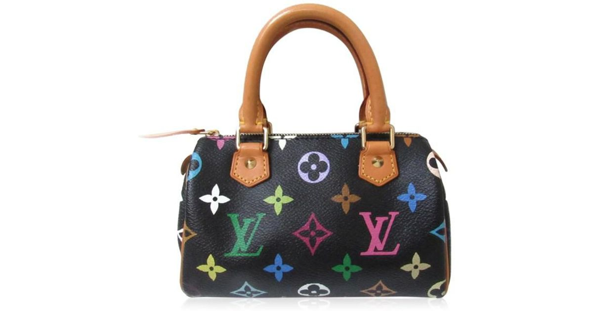 Lyst Louis Vuitton Mini Sdy Handbag Bag Monogram Multicolor Black M92644 In