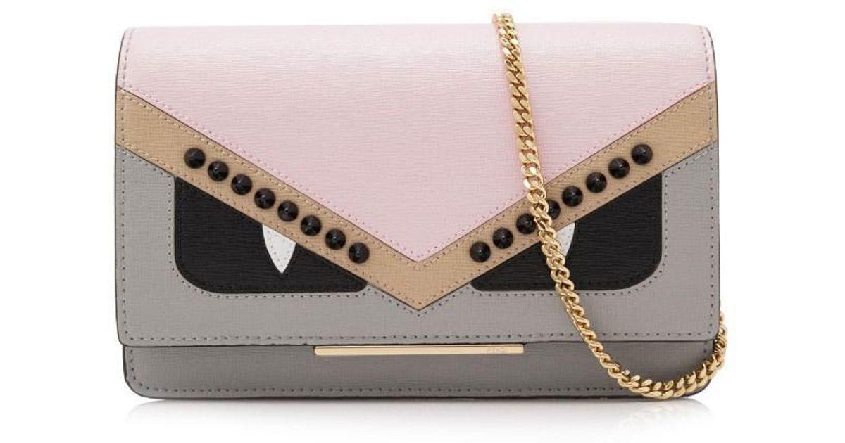 441a3a45ec Lyst - Fendi Bag Bugs Wallet On Chain in Gray