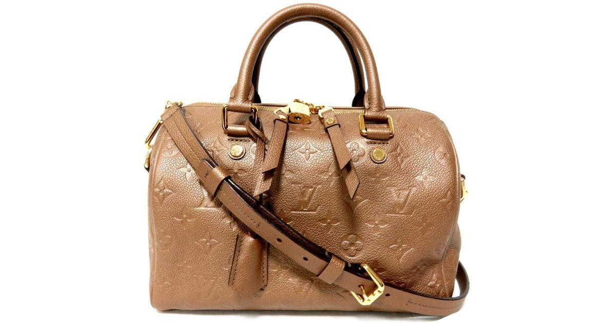 Lyst Louis Vuitton Empreinte Speedy 25 2way Shoulder Bag Carf