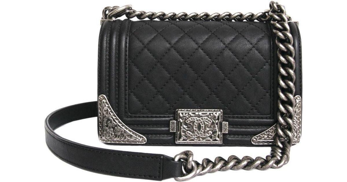 bac45ba48c91 Lyst Chanel Paris Dallas Boy Flap Bag Limited Edition In Black