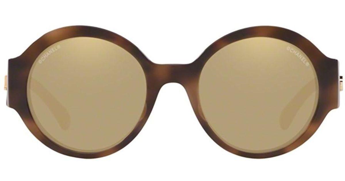 b6e6f54264c Lyst - Chanel Women s Ch54101661t6 Brown Acetate Sunglasses in Brown